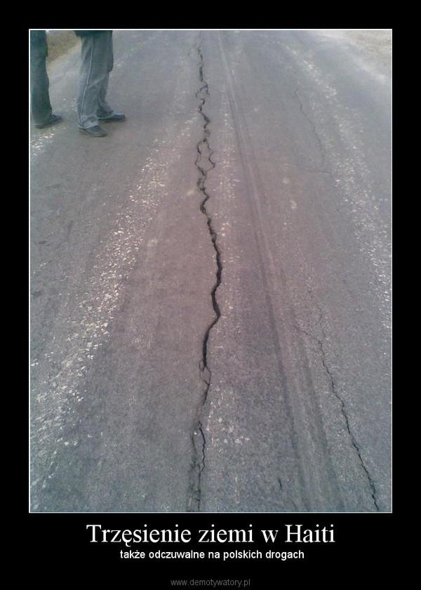 Trzęsienie ziemi w Haiti –  także odczuwalne na polskich drogach