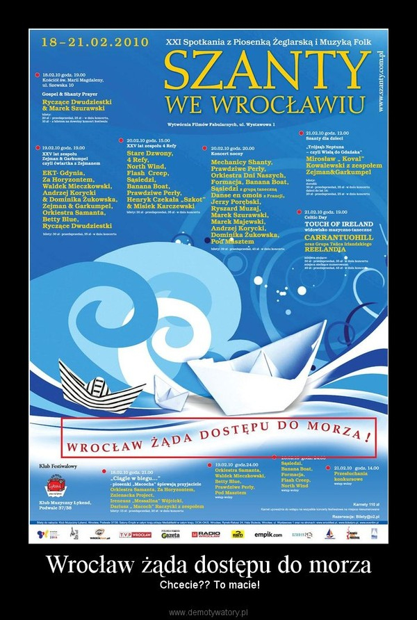 Wrocław żąda dostępu do morza –  Chcecie?? To macie!