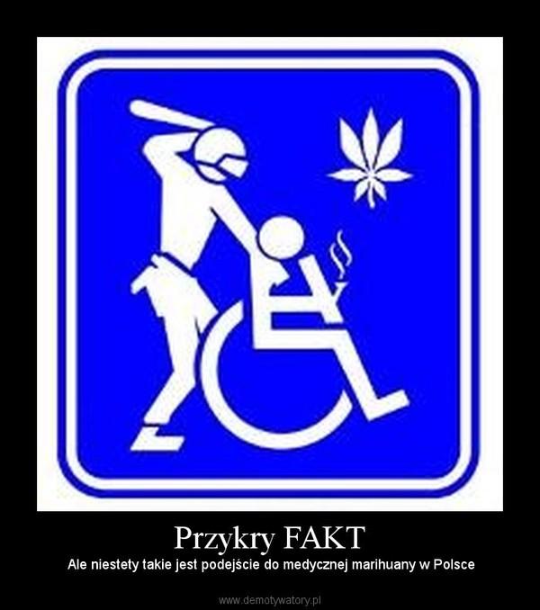 Przykry FAKT –  Ale niestety takie jest podejście do medycznej marihuany w Polsce