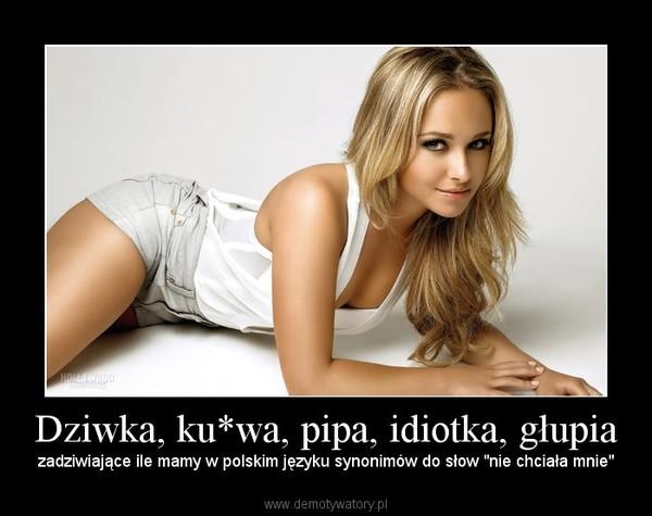 """Dziwka, ku*wa, pipa, idiotka, głupia – zadziwiające ile mamy w polskim języku synonimów do słow """"nie chciała mnie"""""""