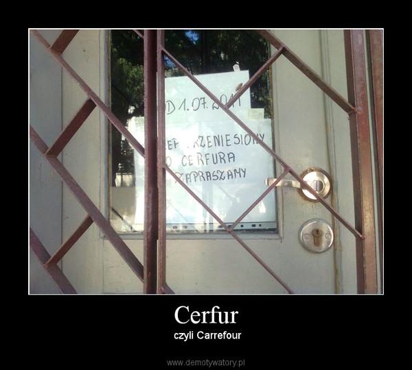 Cerfur – czyli Carrefour
