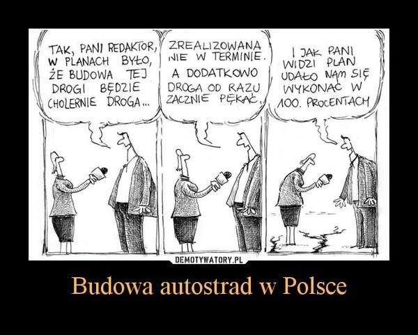 Budowa autostrad w Polsce –