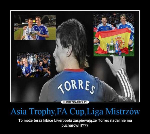 Asia Trophy,FA Cup,Liga Mistrzów – To może teraz kibice Liverpoolu zaśpiewają,że Torres nadal nie ma pucharów!!!???