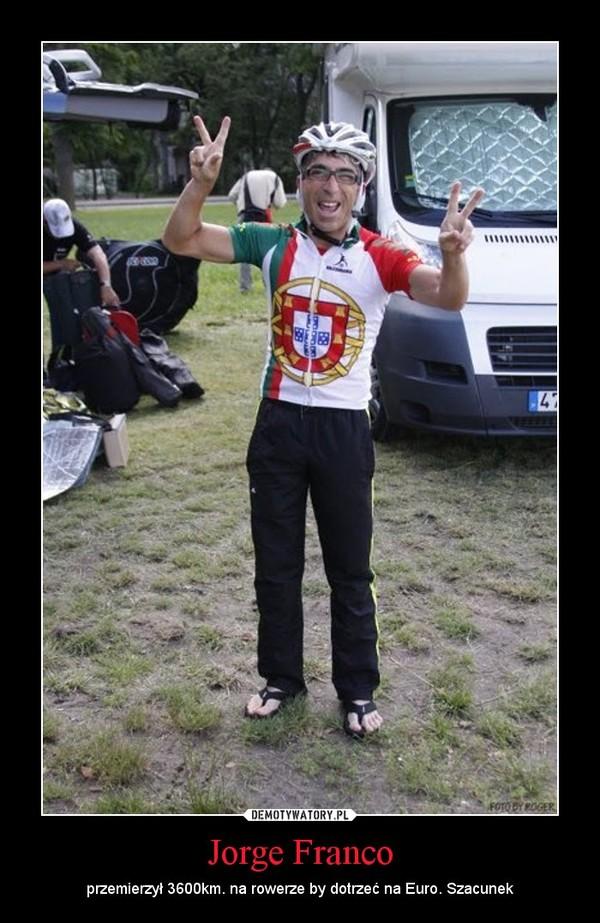Jorge Franco – przemierzył 3600km. na rowerze by dotrzeć na Euro. Szacunek
