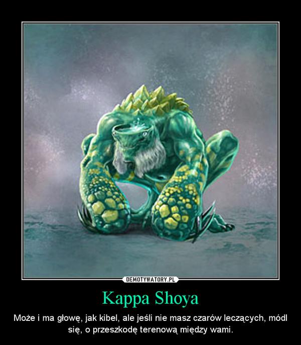 Kappa Shoya – Może i ma głowę, jak kibel, ale jeśli nie masz czarów leczących, módl się, o przeszkodę terenową między wami.