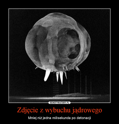 Zdjęcie z wybuchu jądrowego