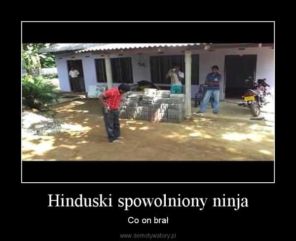 Hinduski spowolniony ninja – Co on brał