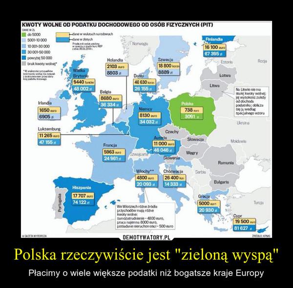 """Polska rzeczywiście jest """"zieloną wyspą"""" – Płacimy o wiele większe podatki niż bogatsze kraje Europy"""