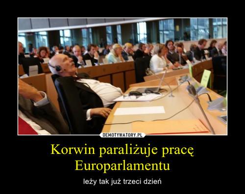 Korwin paraliżuje pracę Europarlamentu