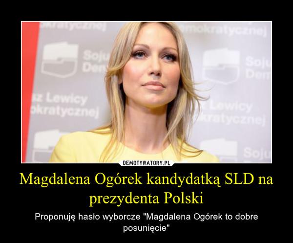 """Magdalena Ogórek kandydatką SLD na prezydenta Polski – Proponuję hasło wyborcze """"Magdalena Ogórek to dobre posunięcie"""""""