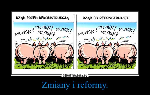 Zmiany i reformy. –