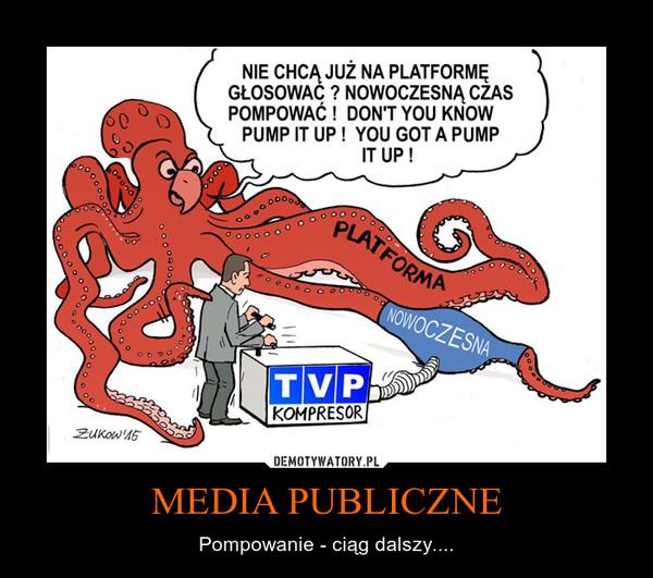 MEDIA PUBLICZNE – Pompowanie - ciąg dalszy....