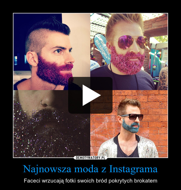 Najnowsza moda z Instagrama – Faceci wrzucają fotki swoich bród pokrytych brokatem