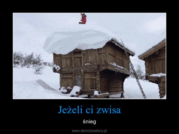 Jeżeli ci zwisa – śnieg