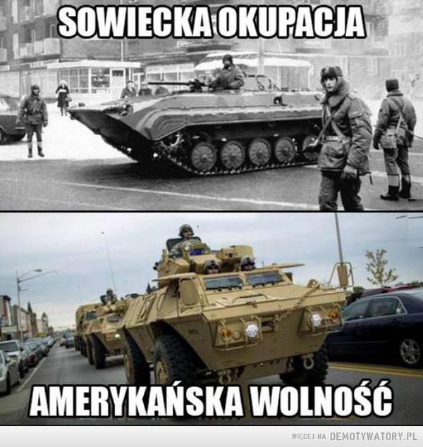 Okupacja vs wolność –