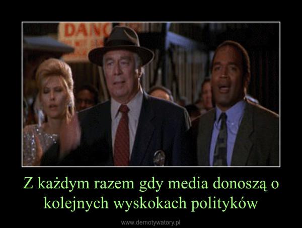 Z każdym razem gdy media donoszą o kolejnych wyskokach polityków –
