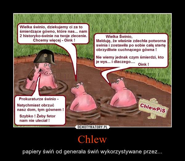 Chlew – papiery świń od generała świń wykorzystywane przez...