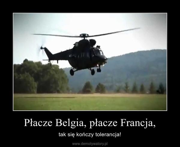 Płacze Belgia, płacze Francja, – tak się kończy tolerancja!