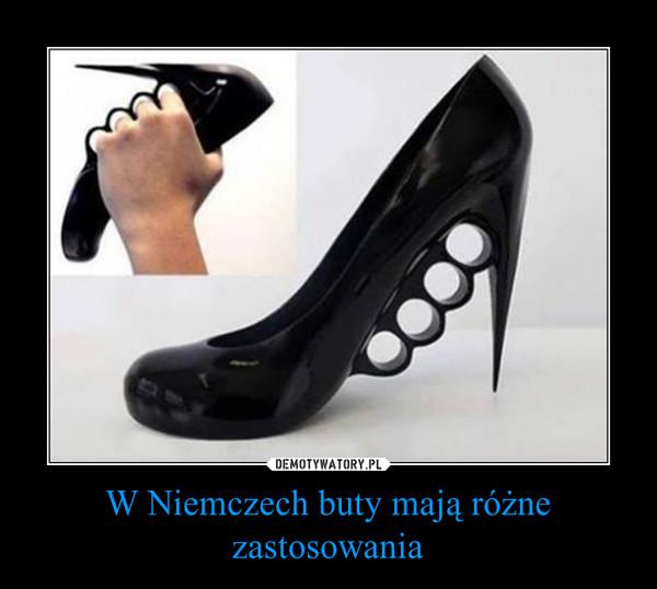 W Niemczech buty mają różne zastosowania –