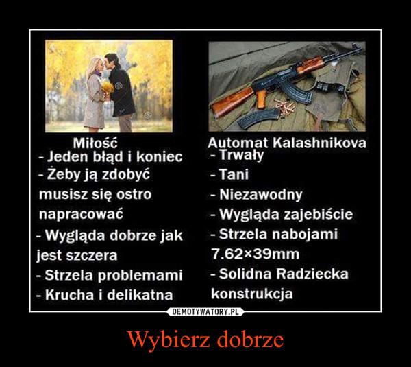 Wybierz dobrze –