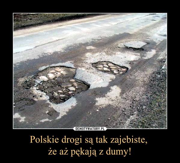 Polskie drogi są tak zajebiste, że aż pękają z dumy! –