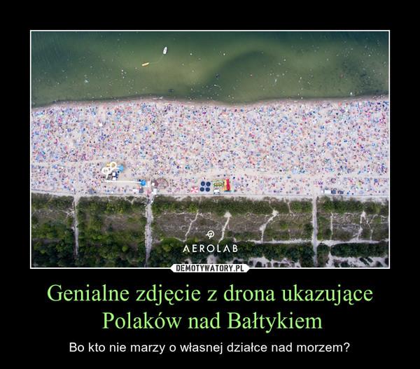 Genialne zdjęcie z drona ukazujące Polaków nad Bałtykiem – Bo kto nie marzy o własnej działce nad morzem?