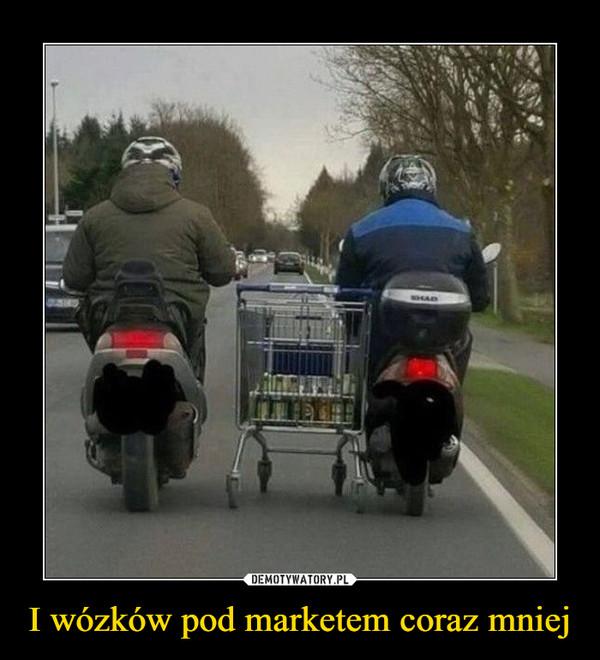 I wózków pod marketem coraz mniej –