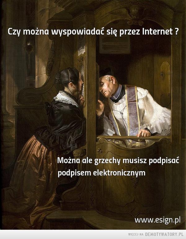 Spowiedź przez Internet –