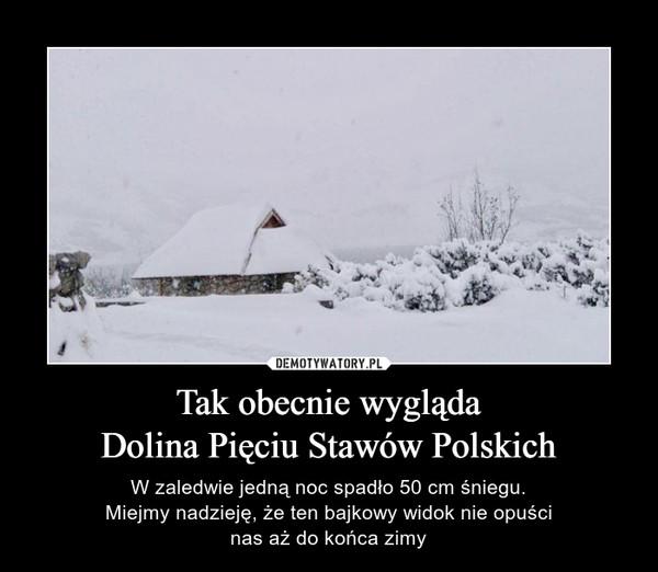 Tak obecnie wyglądaDolina Pięciu Stawów Polskich – W zaledwie jedną noc spadło 50 cm śniegu.Miejmy nadzieję, że ten bajkowy widok nie opuścinas aż do końca zimy