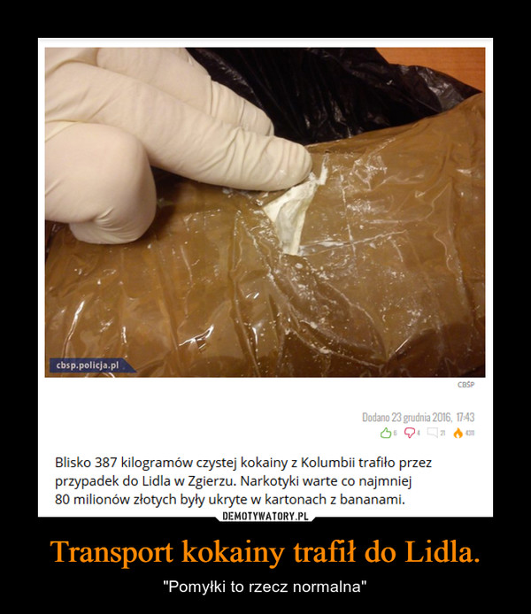 """Transport kokainy trafił do Lidla. – """"Pomyłki to rzecz normalna"""""""