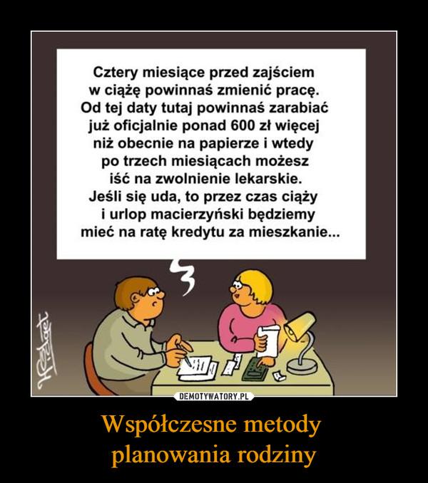 Współczesne metody planowania rodziny –