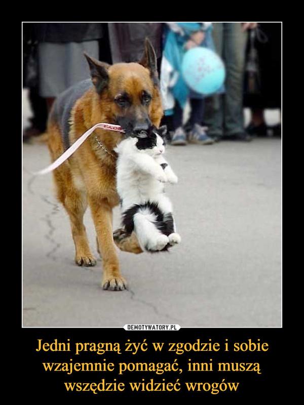 Jedni pragną żyć w zgodzie i sobie wzajemnie pomagać, inni muszą wszędzie widzieć wrogów –