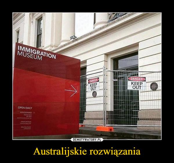 Australijskie rozwiązania –