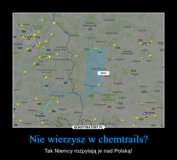 Nie wierzysz w chemtrails? – Tak Niemcy rozpylają je nad Polską!