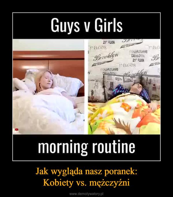 Jak wygląda nasz poranek:Kobiety vs. mężczyźni –