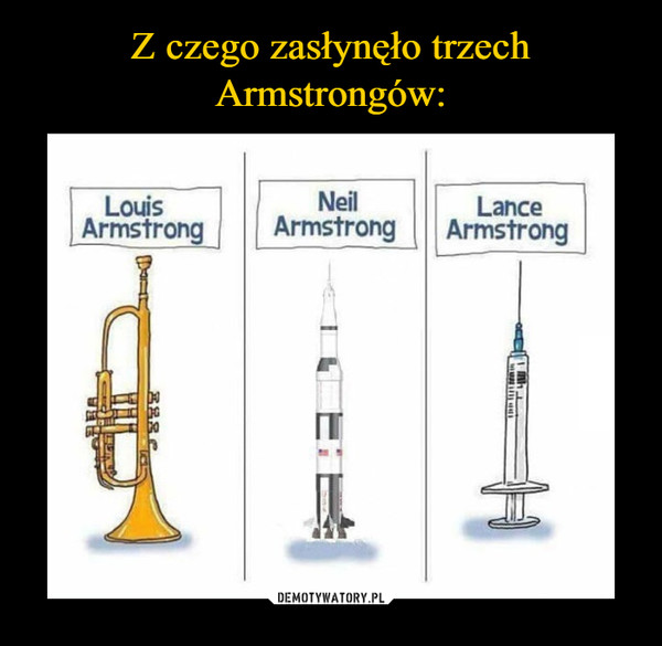 –  Armstrong Louis Neil Lance