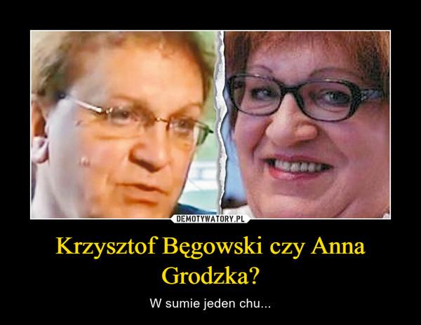 Krzysztof Bęgowski czy Anna Grodzka?