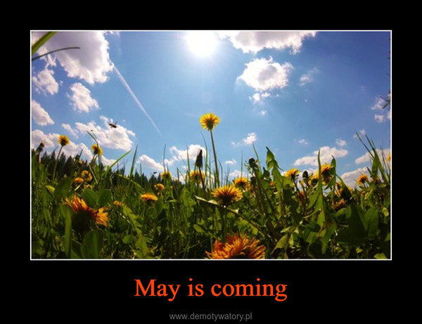 May is coming –