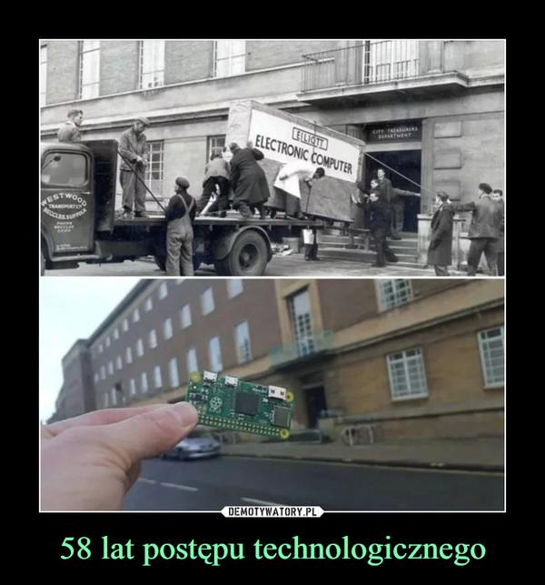 58 lat postępu technologicznego –