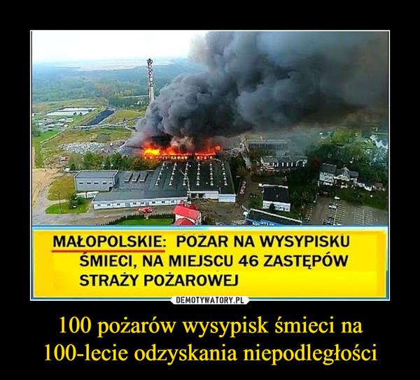 100 pożarów wysypisk śmieci na 100-lecie odzyskania niepodległości –