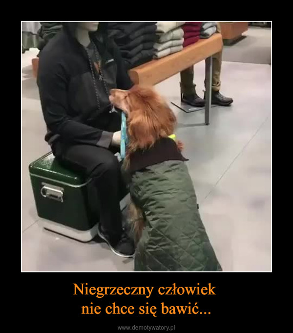 Niegrzeczny człowiek nie chce się bawić... –