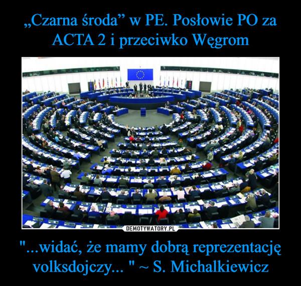"""""""...widać, że mamy dobrą reprezentację volksdojczy... """" ~ S. Michalkiewicz –"""