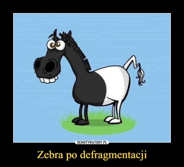 Zebra po defragmentacji –
