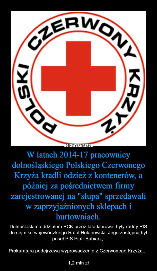 """W latach 2014-17 pracownicy dolnośląskiego Polskiego Czerwonego Krzyża kradli odzież z kontenerów, a później za pośrednictwem firmy zarejestrowanej na """"słupa"""" sprzedawali w zaprzyjaźnionych sklepach i hurtowniach."""