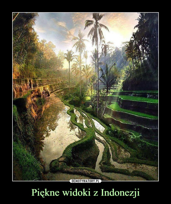 Piękne widoki z Indonezji –