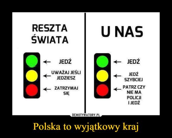 Polska to wyjątkowy kraj –  RESZTA ŚWIATA U NASJEDŹ JEDŹUWAŻAJ JEŚLI JEDZIESZ JEDŹ SZYBCIEJZATRZYMAJ SIĘ PATRZY CZY NIE MA POLICJI I JEDŹ