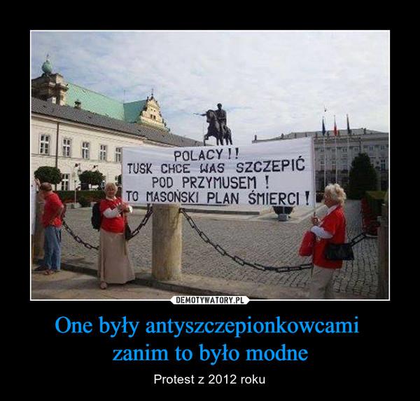 One były antyszczepionkowcami zanim to było modne – Protest z 2012 roku POLACY !! TUSK CHCE WAS SZCZEPIĆ  POD PRZYMUSEM ! TO MASOŃSKI PLAN ŚMIERCI !