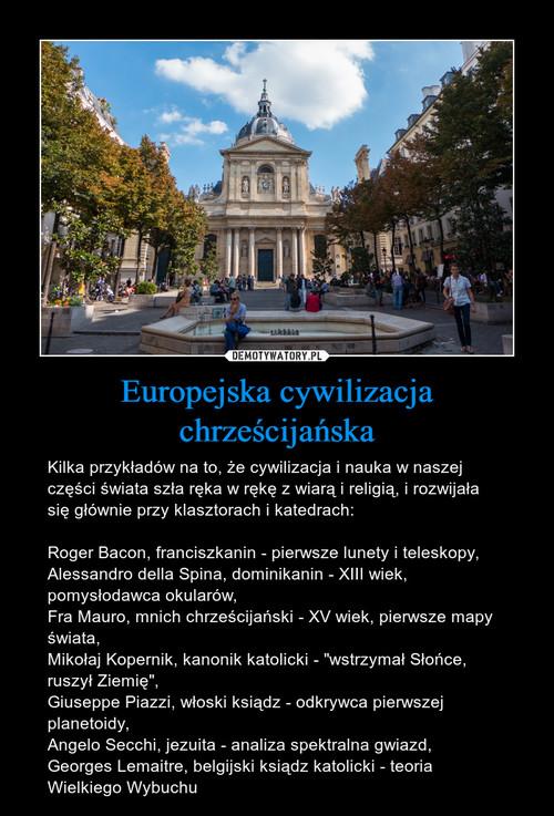 Europejska cywilizacja chrześcijańska
