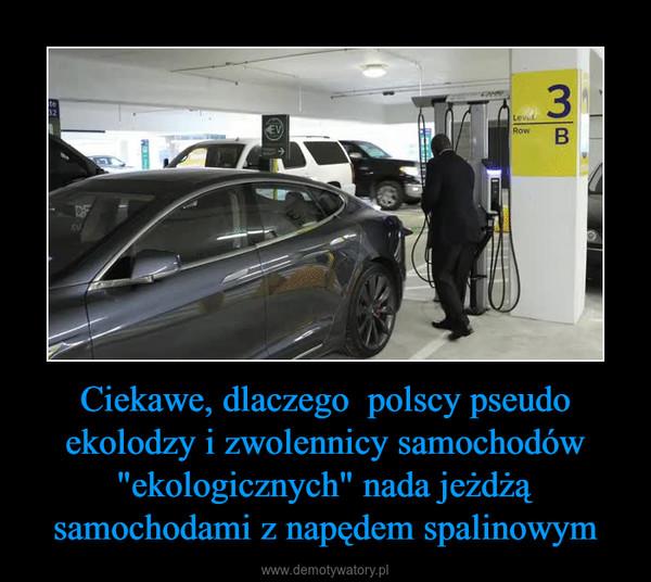 """Ciekawe, dlaczego  polscy pseudo ekolodzy i zwolennicy samochodów """"ekologicznych"""" nada jeżdżą samochodami z napędem spalinowym –"""