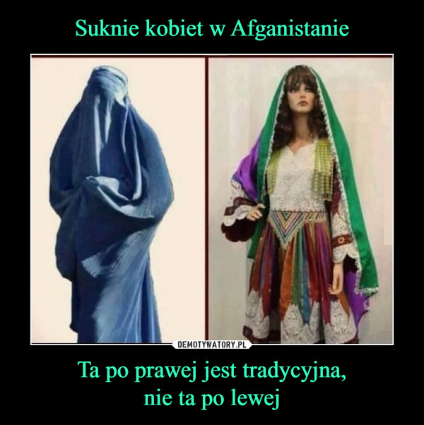 Ta po prawej jest tradycyjna,nie ta po lewej –